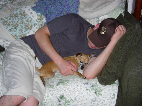 Daniel and Thor sleeping