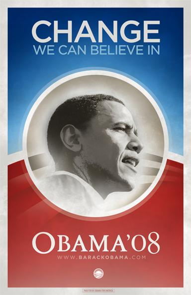 """Obama """"Change"""" image"""
