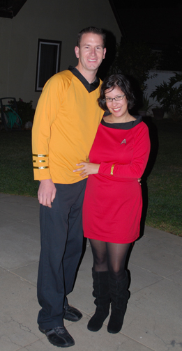 Daniel & Sarah wearing Star Trek costumes