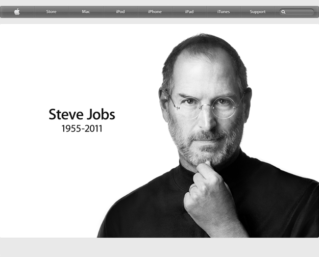 Apple website frontpage